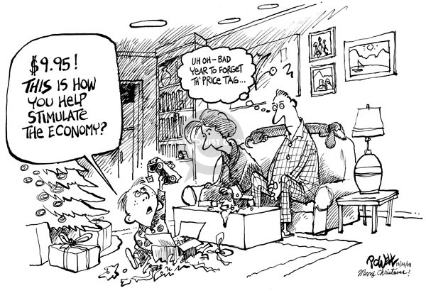 Cartoonist Dwane Powell  Dwane Powell's Editorial Cartoons 2008-12-24 recession