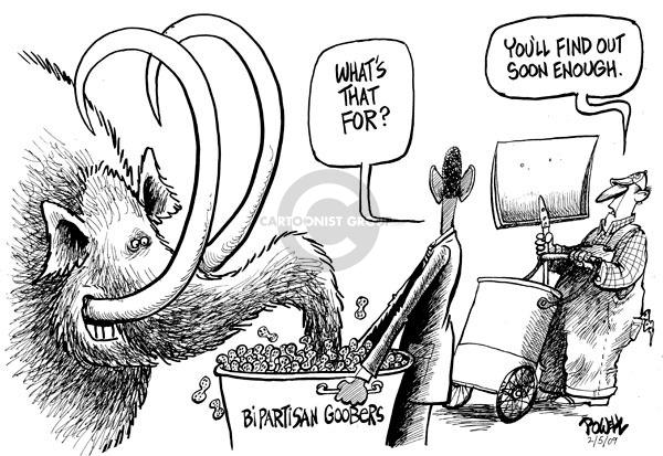 Cartoonist Dwane Powell  Dwane Powell's Editorial Cartoons 2009-02-05 bipartisan