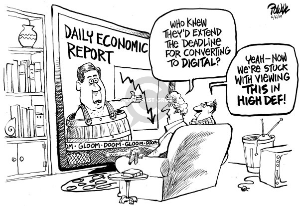 Cartoonist Dwane Powell  Dwane Powell's Editorial Cartoons 2009-02-06 recession