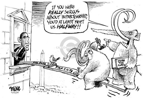 Cartoonist Dwane Powell  Dwane Powell's Editorial Cartoons 2009-02-26 republican politician