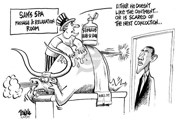 Dwane Powell  Dwane Powell's Editorial Cartoons 2009-03-02 stock market