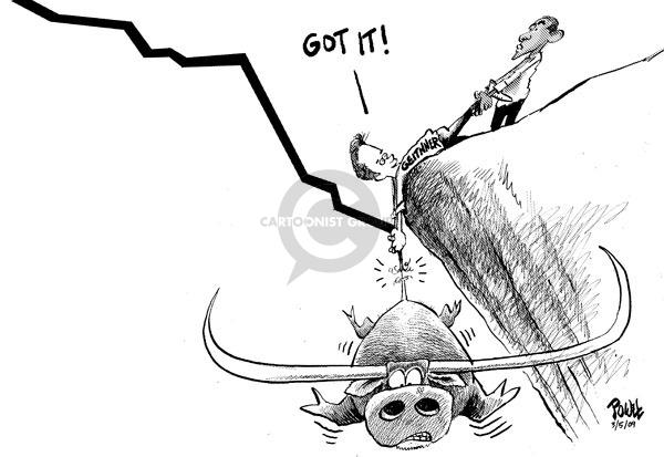 Dwane Powell  Dwane Powell's Editorial Cartoons 2009-03-06 stock market