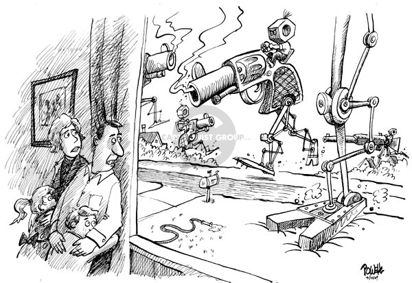 Cartoonist Dwane Powell  Dwane Powell's Editorial Cartoons 2009-04-10 family