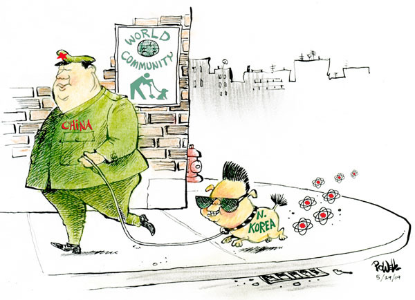 Cartoonist Dwane Powell  Dwane Powell's Editorial Cartoons 2009-05-29 weapon