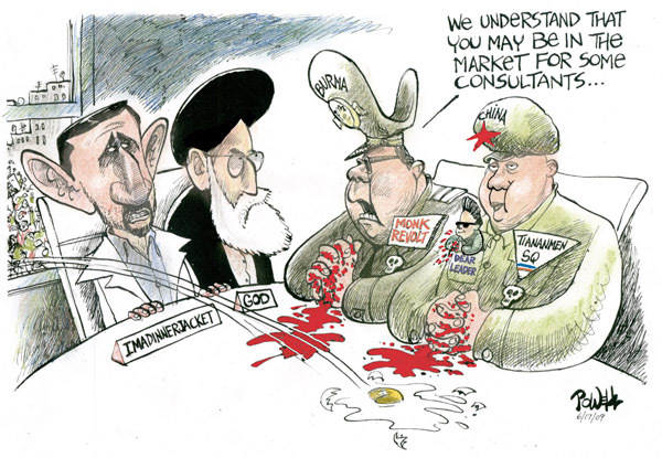 Dwane Powell  Dwane Powell's Editorial Cartoons 2009-06-18 Iranian election
