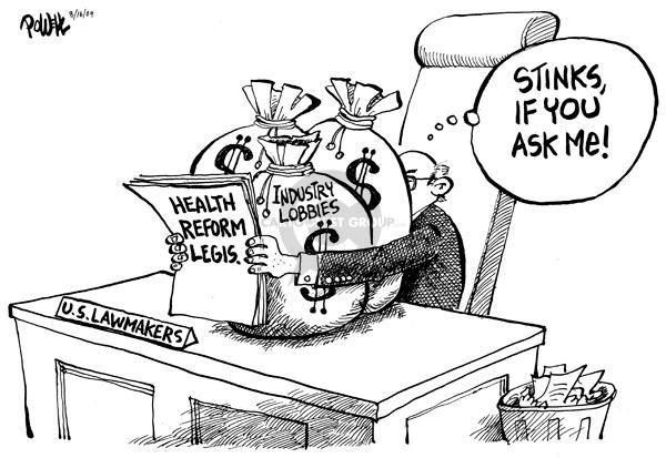 Cartoonist Dwane Powell  Dwane Powell's Editorial Cartoons 2009-08-24 congress health care