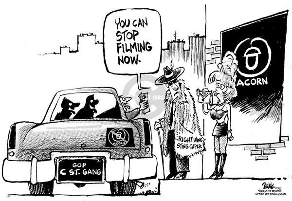 Cartoonist Dwane Powell  Dwane Powell's Editorial Cartoons 2009-09-21 republican politician