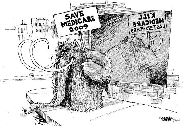 Cartoonist Dwane Powell  Dwane Powell's Editorial Cartoons 2009-09-30 republican politician