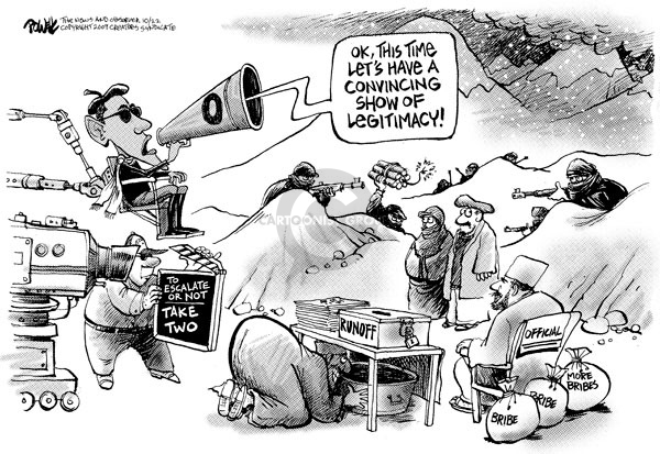 Cartoonist Dwane Powell  Dwane Powell's Editorial Cartoons 2009-10-22 political corruption