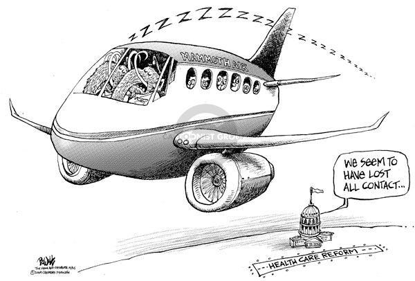 Cartoonist Dwane Powell  Dwane Powell's Editorial Cartoons 2009-10-25 republican politician