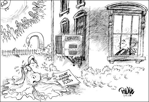Dwane Powell  Dwane Powell's Editorial Cartoons 2005-07-22 Supreme Court