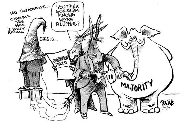 Cartoonist Dwane Powell  Dwane Powell's Editorial Cartoons 2005-01-28 majority