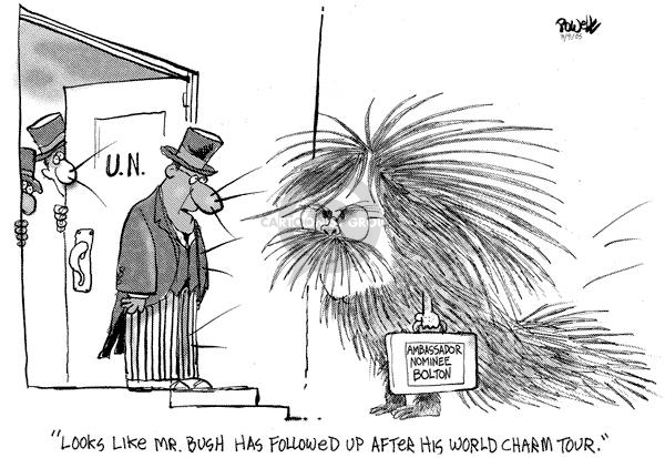 Cartoonist Dwane Powell  Dwane Powell's Editorial Cartoons 2005-03-09 United Nations Ambassador