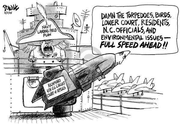 Dwane Powell  Dwane Powell's Editorial Cartoons 2005-03-11 environment