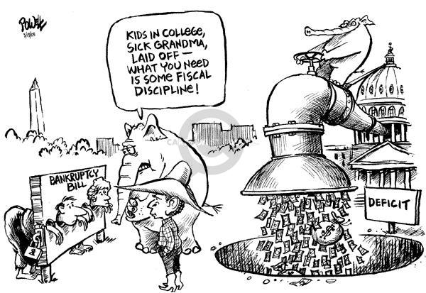 Dwane Powell  Dwane Powell's Editorial Cartoons 2005-03-15 federal budget