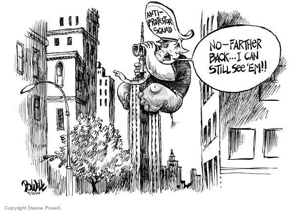 Dwane Powell  Dwane Powell's Editorial Cartoons 2004-09-13 freedom of speech