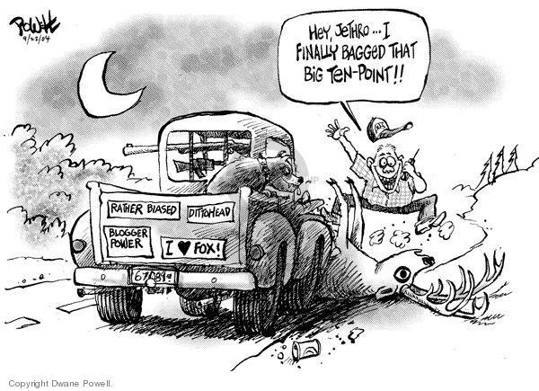 Dwane Powell  Dwane Powell's Editorial Cartoons 2004-09-23 Jethro