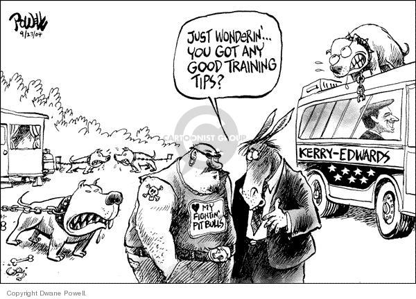 Dwane Powell  Dwane Powell's Editorial Cartoons 2004-09-24 vice-presidential debate