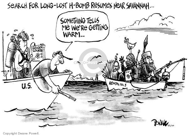 Cartoonist Dwane Powell  Dwane Powell's Editorial Cartoons 2004-10-06 weapon