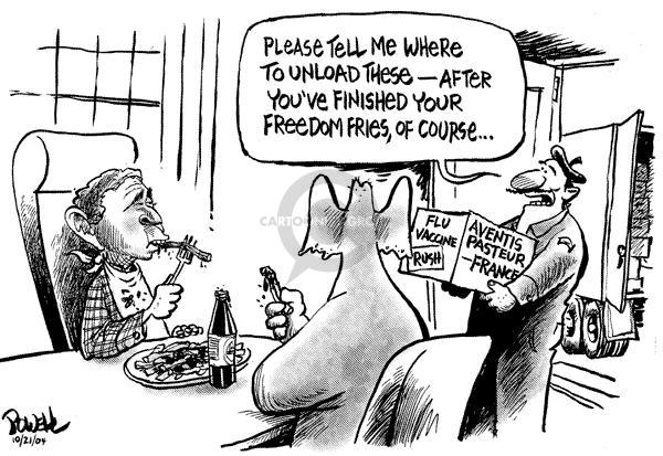 Cartoonist Dwane Powell  Dwane Powell's Editorial Cartoons 2004-10-21 medicine