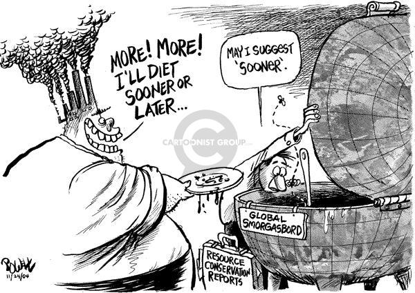 Dwane Powell  Dwane Powell's Editorial Cartoons 2004-10-28 environment