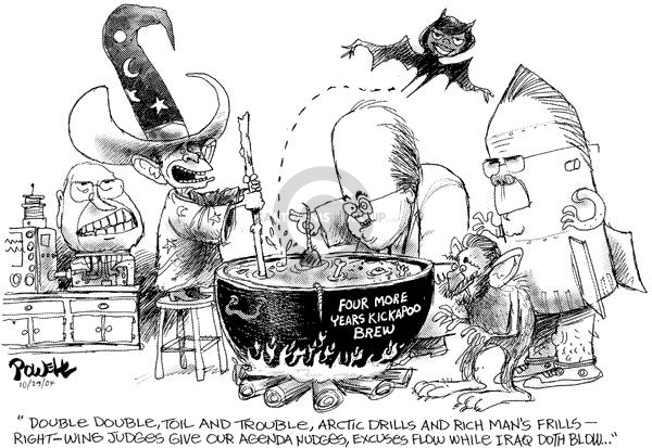 Cartoonist Dwane Powell  Dwane Powell's Editorial Cartoons 2004-11-01 special interest