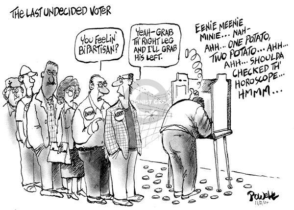 Cartoonist Dwane Powell  Dwane Powell's Editorial Cartoons 2004-11-03 bipartisan