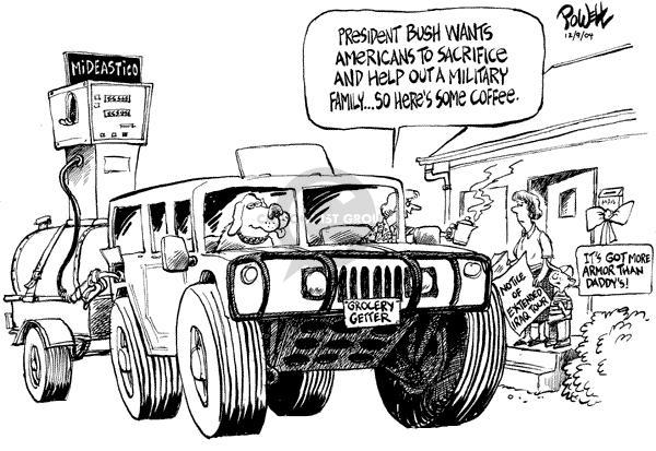 Cartoonist Dwane Powell  Dwane Powell's Editorial Cartoons 2004-12-10 George W. Bush