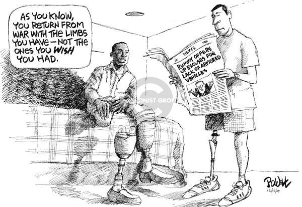 Dwane Powell  Dwane Powell's Editorial Cartoons 2004-12-14 military casualty