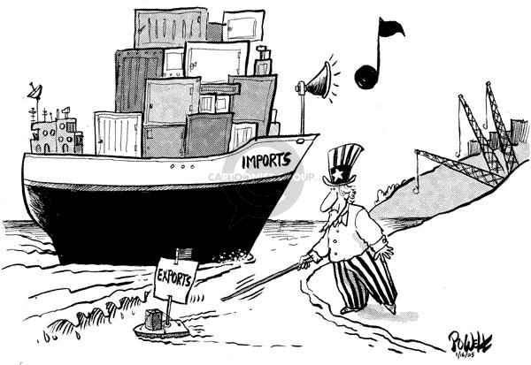 Cartoonist Dwane Powell  Dwane Powell's Editorial Cartoons 2005-01-20 globalization