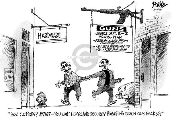 Cartoonist Dwane Powell  Dwane Powell's Editorial Cartoons 2005-03-10 weapon