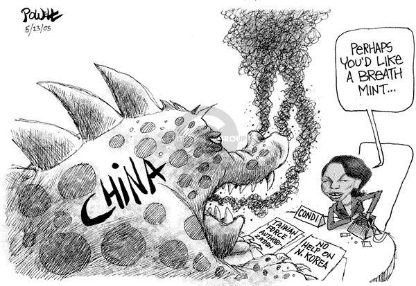 Cartoonist Dwane Powell  Dwane Powell's Editorial Cartoons 2005-03-23 nuclear
