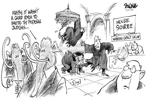 Cartoonist Dwane Powell  Dwane Powell's Editorial Cartoons 2005-04-21 majority
