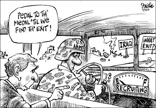 Dwane Powell  Dwane Powell's Editorial Cartoons 2005-07-03 Iraq war