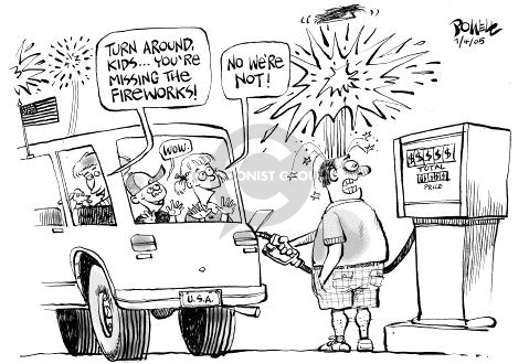 Cartoonist Dwane Powell  Dwane Powell's Editorial Cartoons 2005-07-04 family