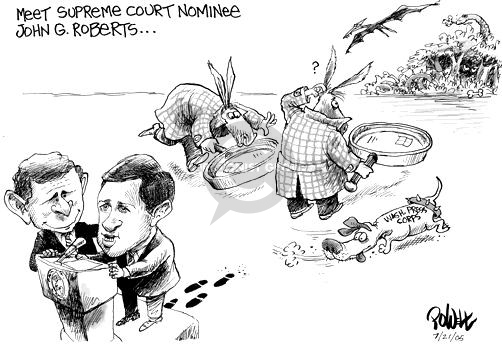 Dwane Powell  Dwane Powell's Editorial Cartoons 2005-07-21 Supreme Court