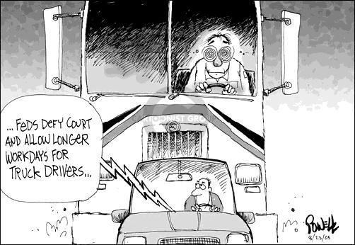Cartoonist Dwane Powell  Dwane Powell's Editorial Cartoons 2005-08-23 highway