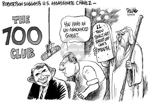 Dwane Powell  Dwane Powell's Editorial Cartoons 2005-08-24 700 club