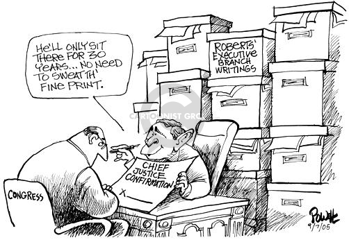 Dwane Powell  Dwane Powell's Editorial Cartoons 2005-09-07 Supreme Court
