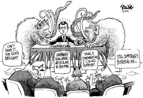Cartoonist Dwane Powell  Dwane Powell's Editorial Cartoons 2005-09-16 republican senate