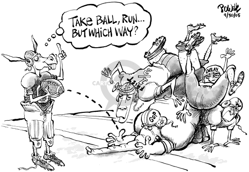 Cartoonist Dwane Powell  Dwane Powell's Editorial Cartoons 2005-09-30 political corruption