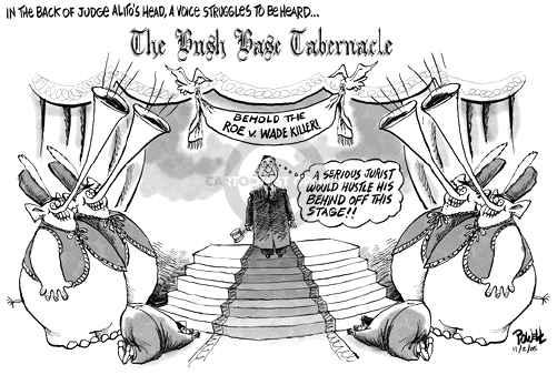 Dwane Powell  Dwane Powell's Editorial Cartoons 2005-11-02 Supreme Court