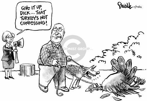 Cartoonist Dwane Powell  Dwane Powell's Editorial Cartoons 2005-11-20 Dick