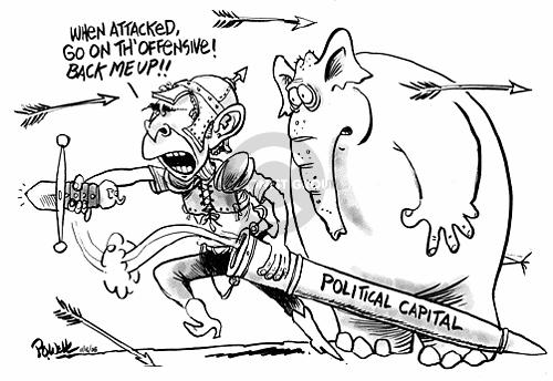 Cartoonist Dwane Powell  Dwane Powell's Editorial Cartoons 2005-11-18 republican president