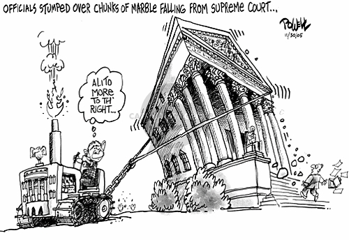 Dwane Powell  Dwane Powell's Editorial Cartoons 2005-11-30 Supreme Court