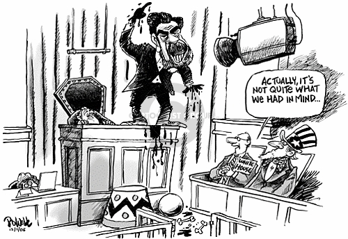 Cartoonist Dwane Powell  Dwane Powell's Editorial Cartoons 2005-12-07 trial
