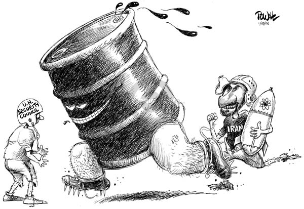 Cartoonist Dwane Powell  Dwane Powell's Editorial Cartoons 2006-01-19 weapon