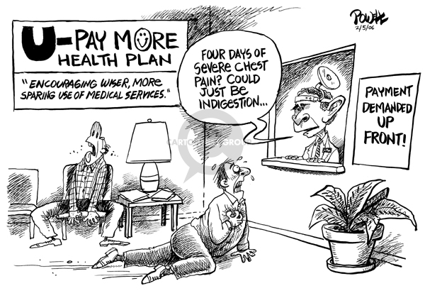 Cartoonist Dwane Powell  Dwane Powell's Editorial Cartoons 2006-02-06 bush