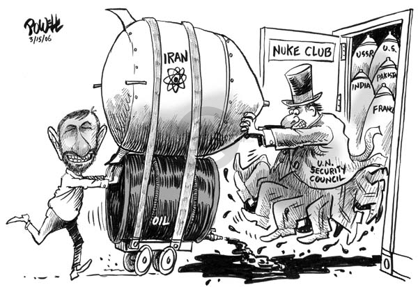 Cartoonist Dwane Powell  Dwane Powell's Editorial Cartoons 2006-03-15 nuclear