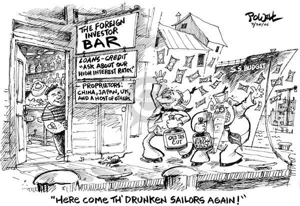 Dwane Powell  Dwane Powell's Editorial Cartoons 2006-03-20 federal budget